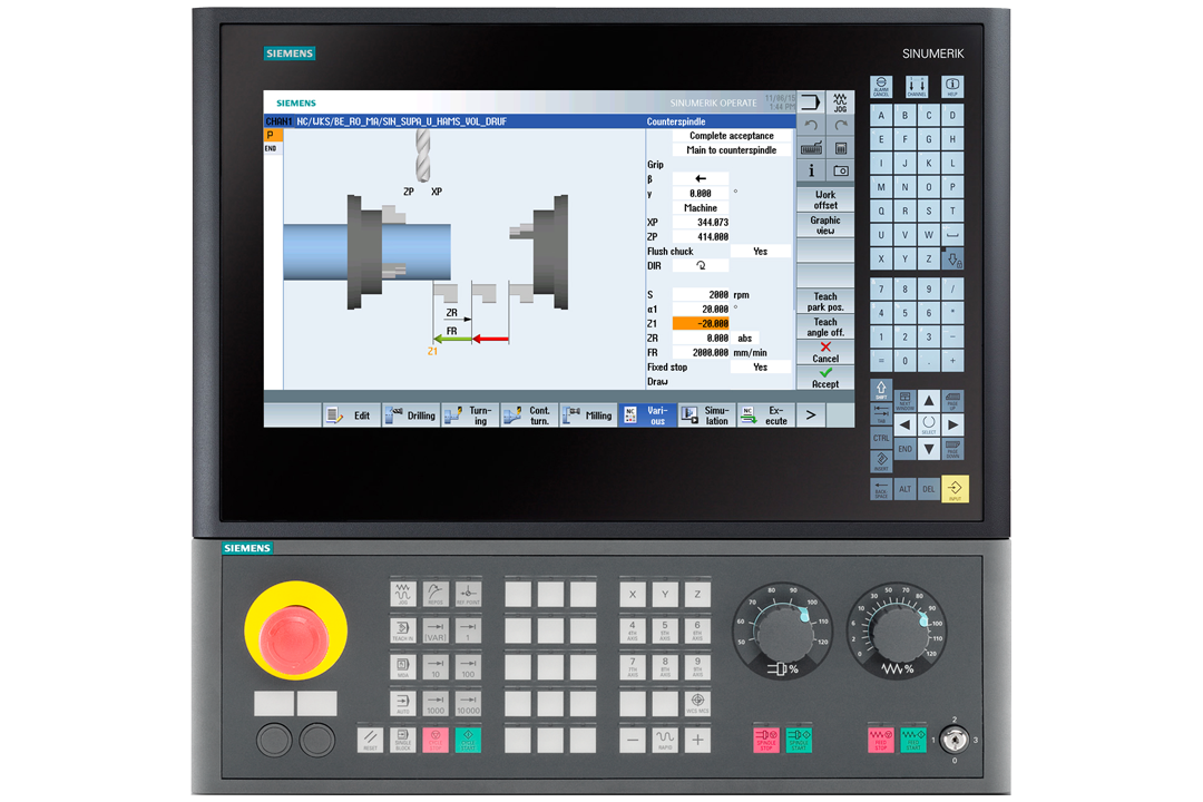 SEIGER Siemens 840D Solution Line Operate Drehmschine